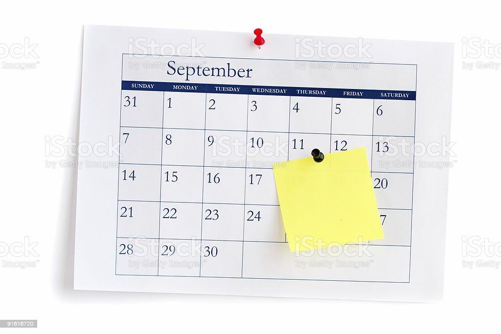 September 2009 royalty-free stock photo