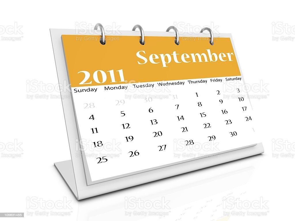 september 2011 royalty-free stock photo