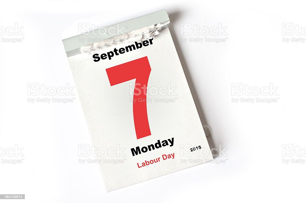 7. September 2015  Labour Day stock photo