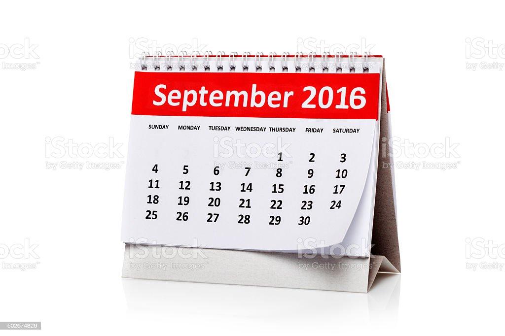 September 2016 stock photo