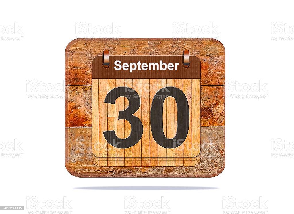 September 30. stock photo