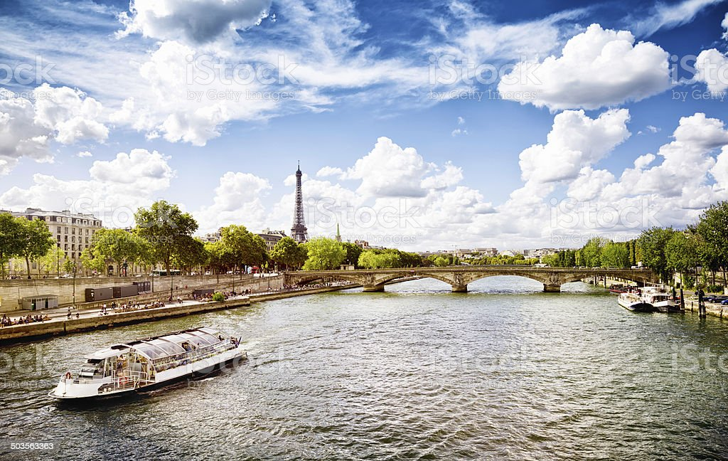 September afternoon in Paris by the Seine stock photo