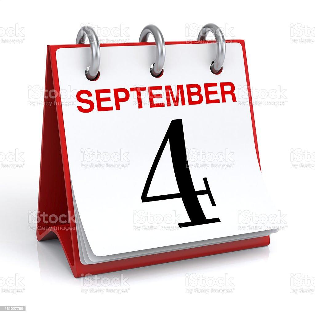 September Calendar royalty-free stock photo