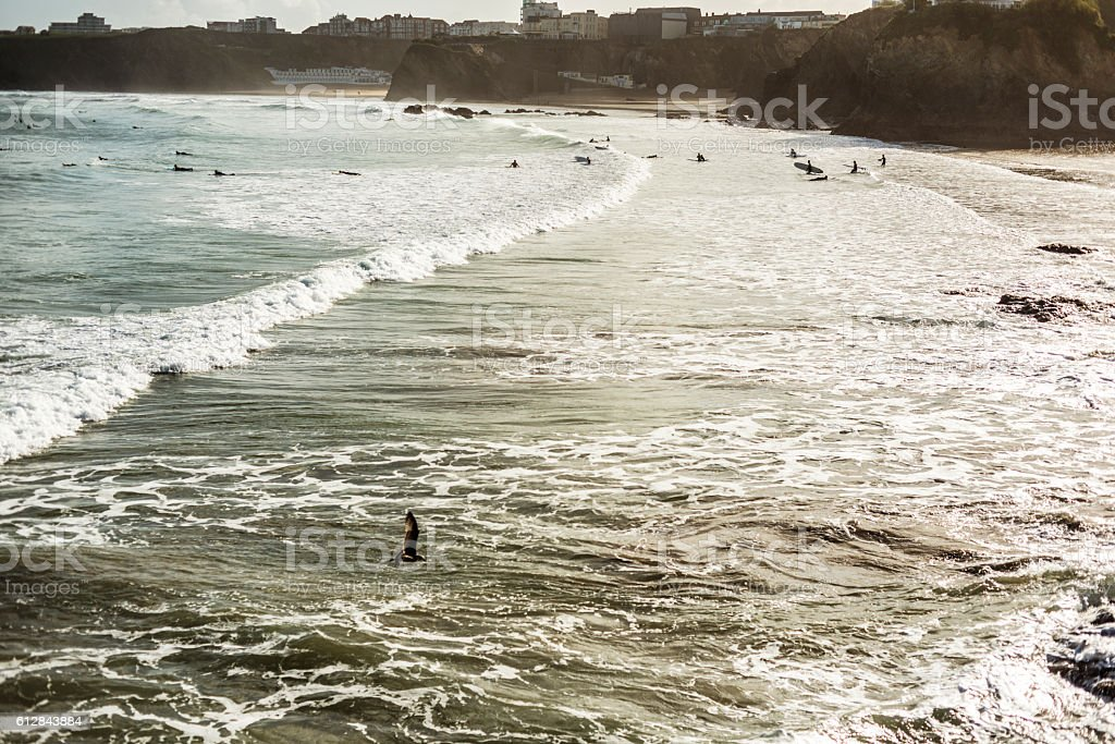 September Morning over Newquay, Cornwall stock photo