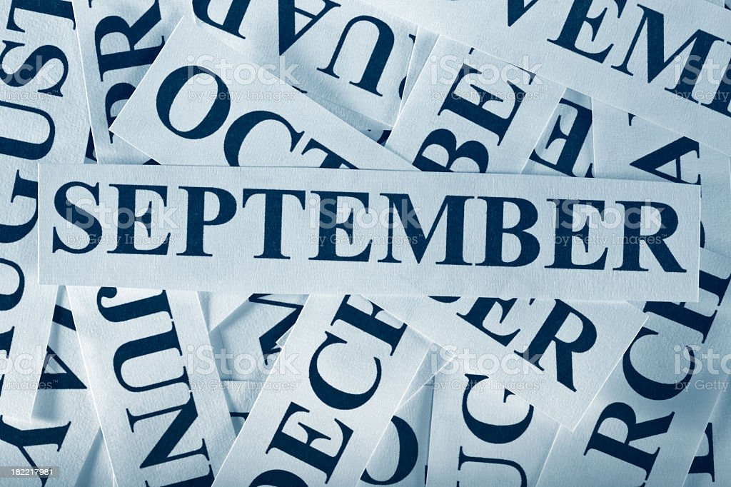 September royalty-free stock photo