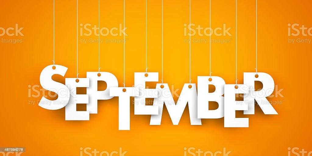 September stock photo
