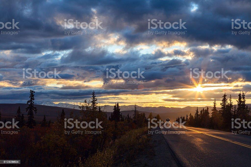 September Sunset royalty-free stock photo