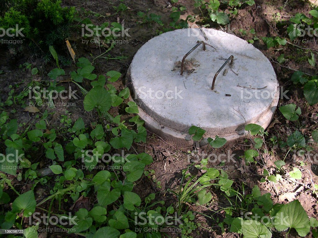 Septic Cover stock photo