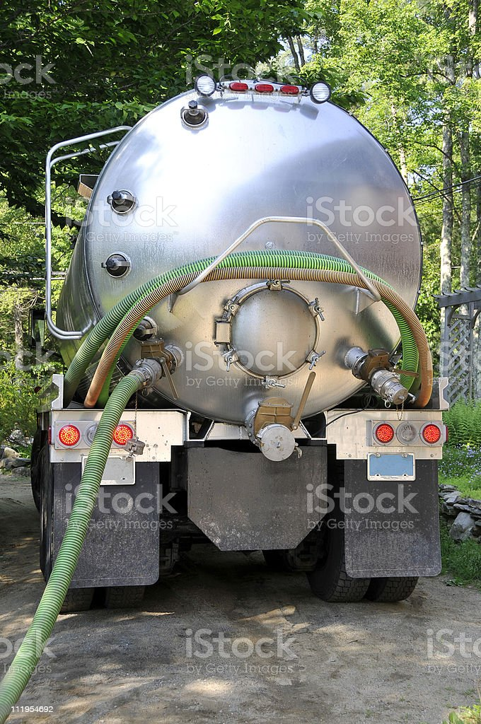 Septic Pump Truck stock photo