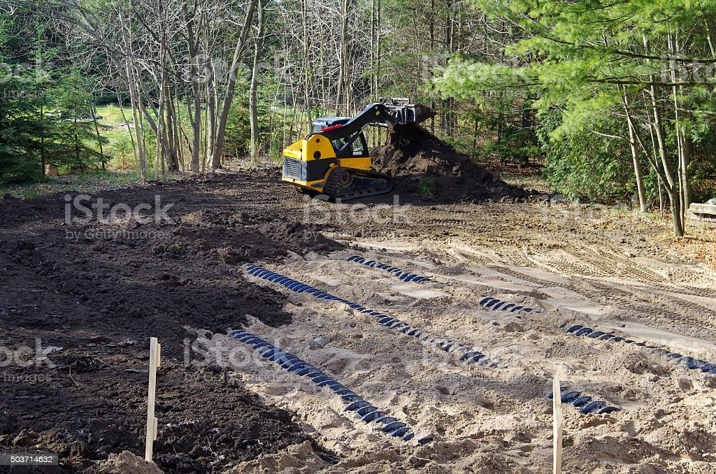 Septic System Installation stock photo