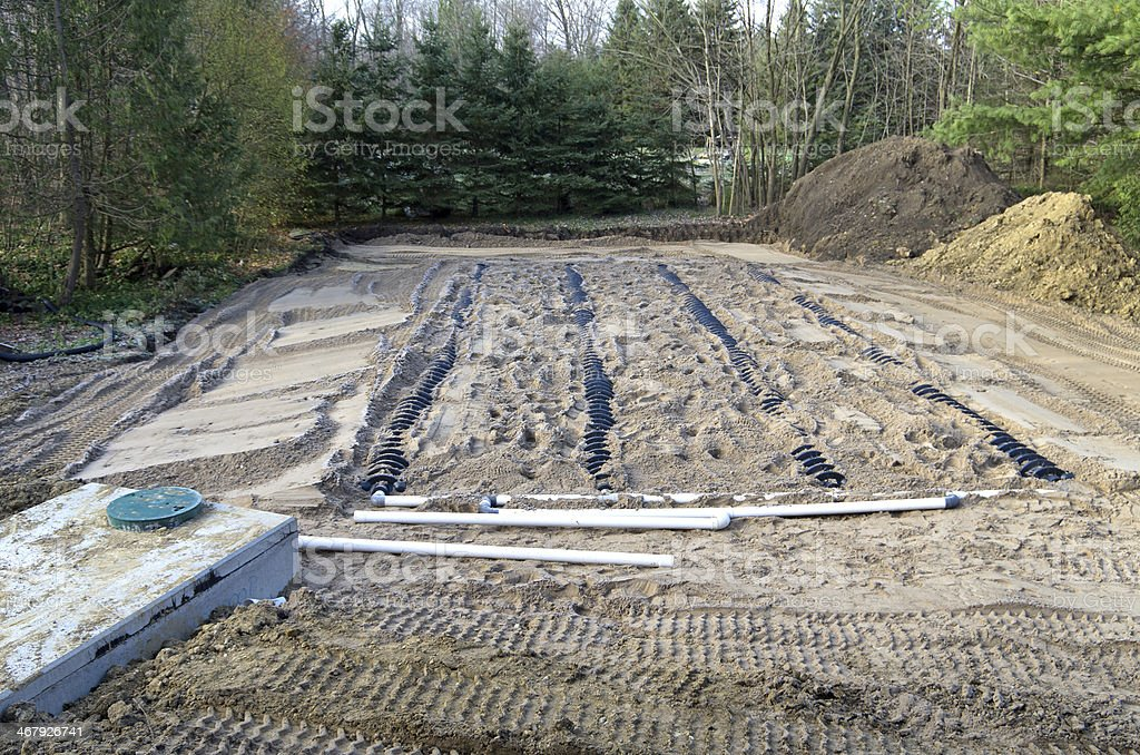 Septic System stock photo