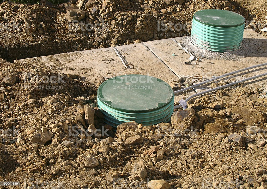 Septic system royalty-free stock photo