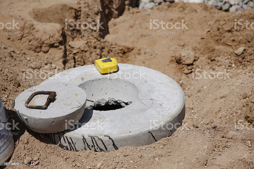 Septic Tank Cover royalty-free stock photo