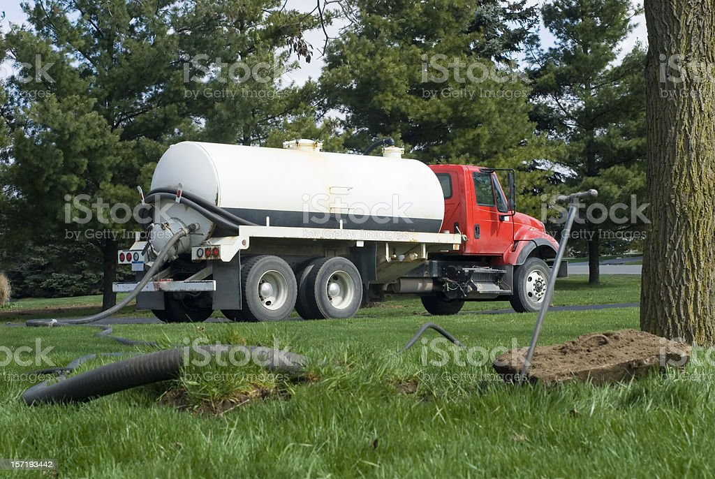 Septic Tank Maintenance stock photo