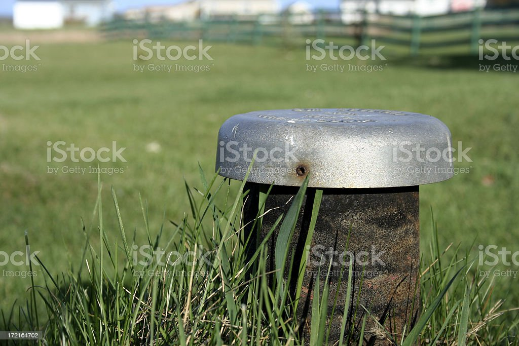 Septic Tank Pipe stock photo
