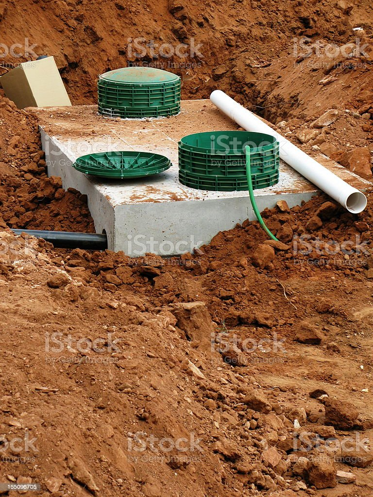 Septic Tank System stock photo