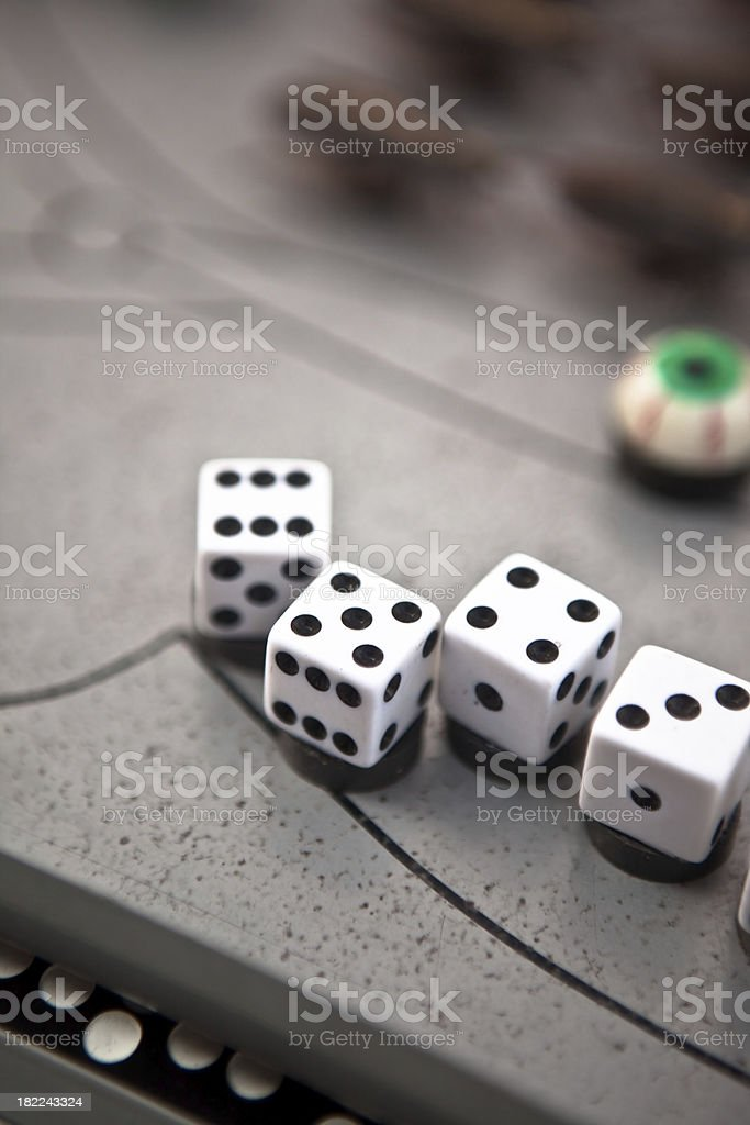 Sequence of Dice royalty-free stock photo