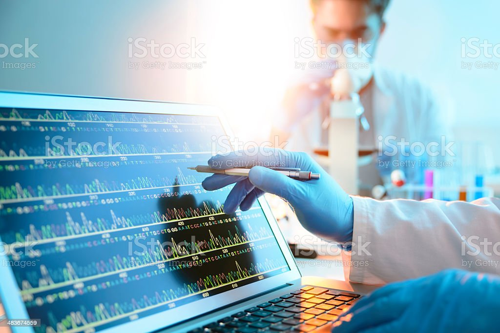 DNA Sequence stock photo