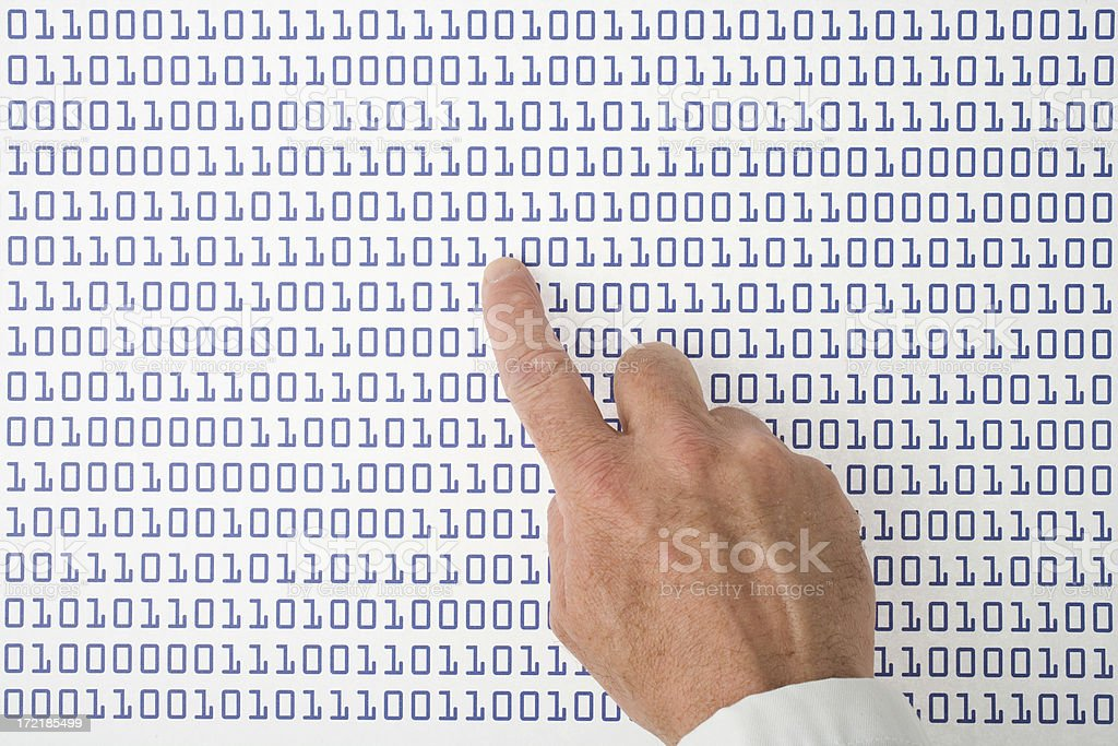 Sequences of digits royalty-free stock photo