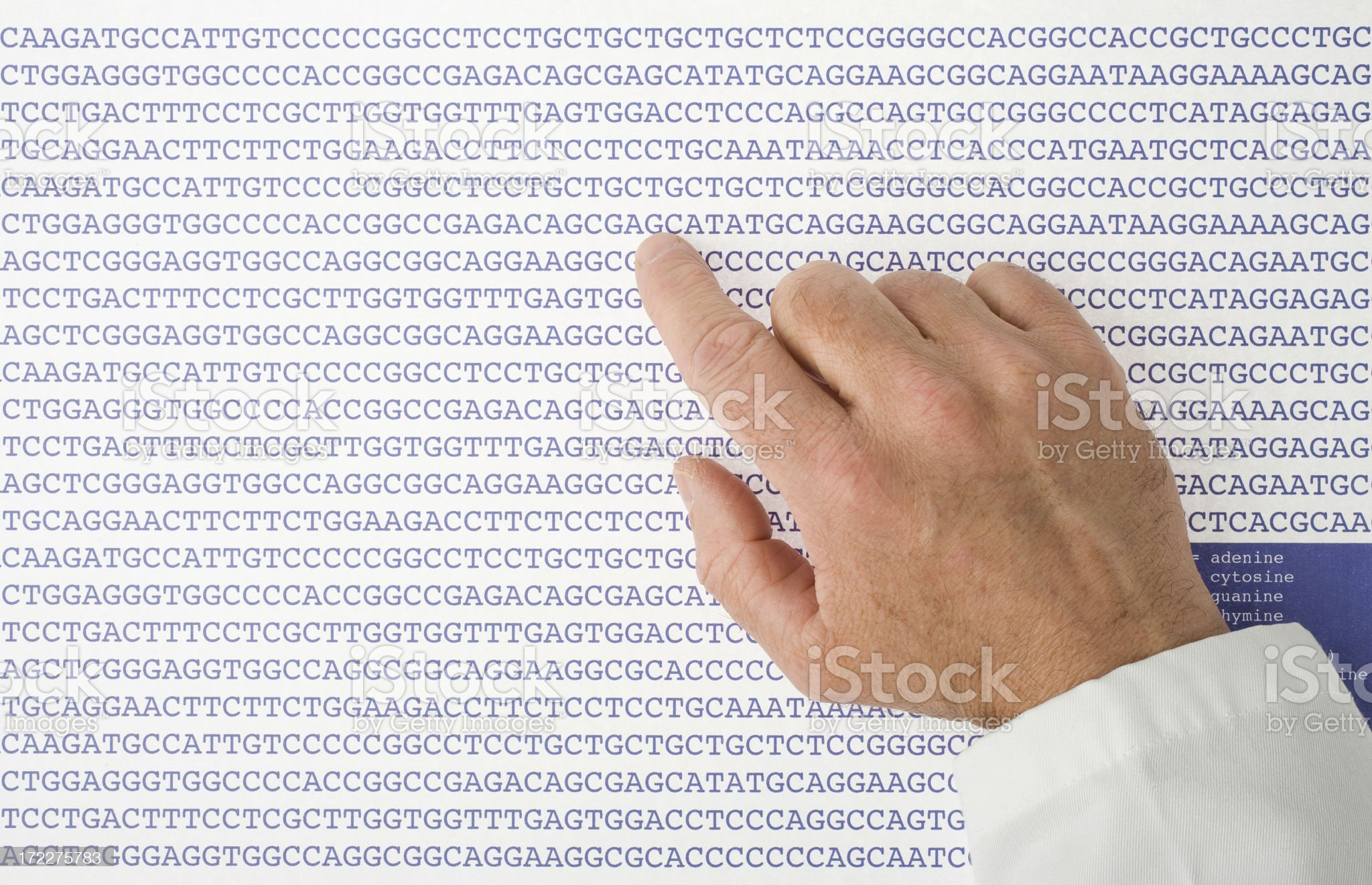Sequences of DNA royalty-free stock photo