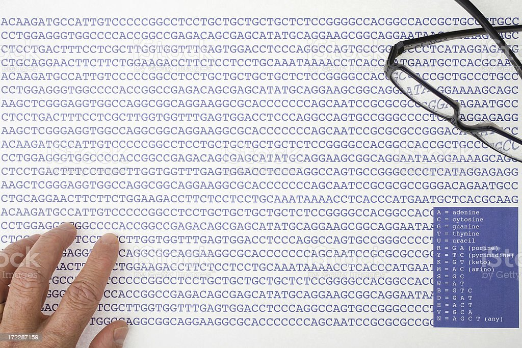 Sequences of DNA stock photo
