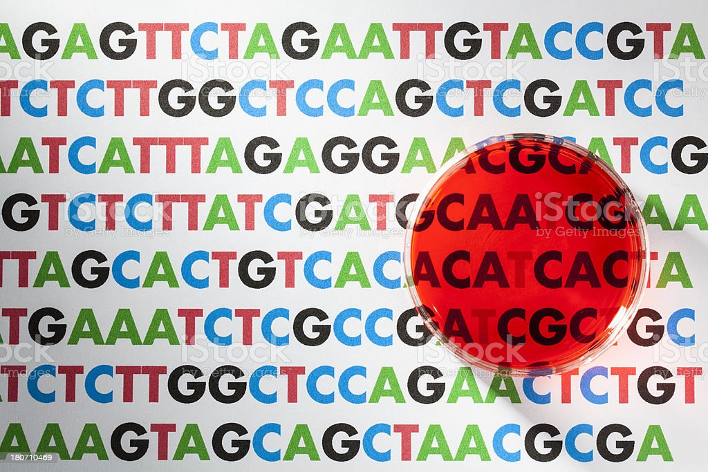 DNA Sequencing royalty-free stock photo