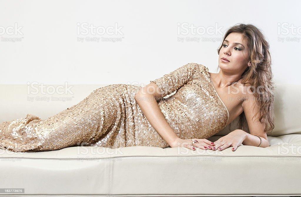 Sequin dress royalty-free stock photo