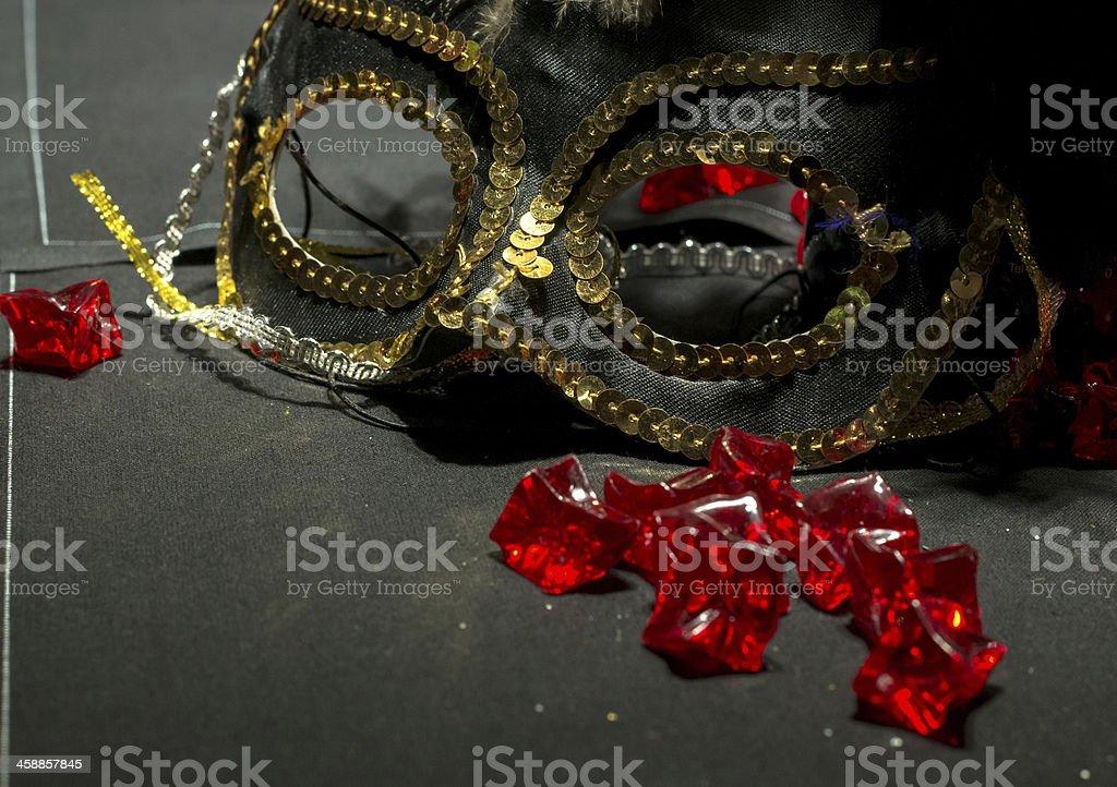 Sequin Masquerade Mask stock photo