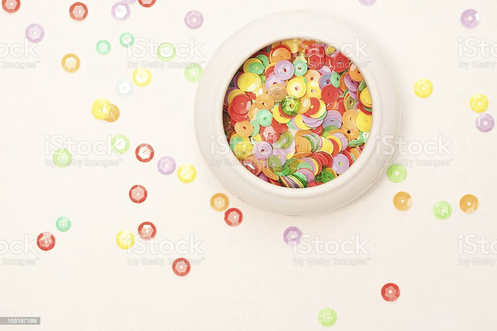 Sequins royalty-free stock photo