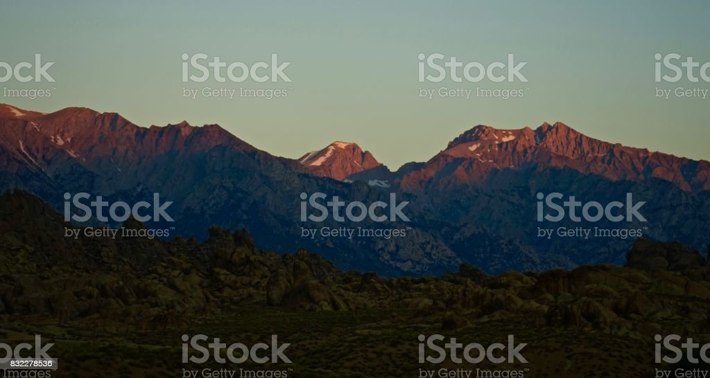 Sequoia National Park Dawn stock photo