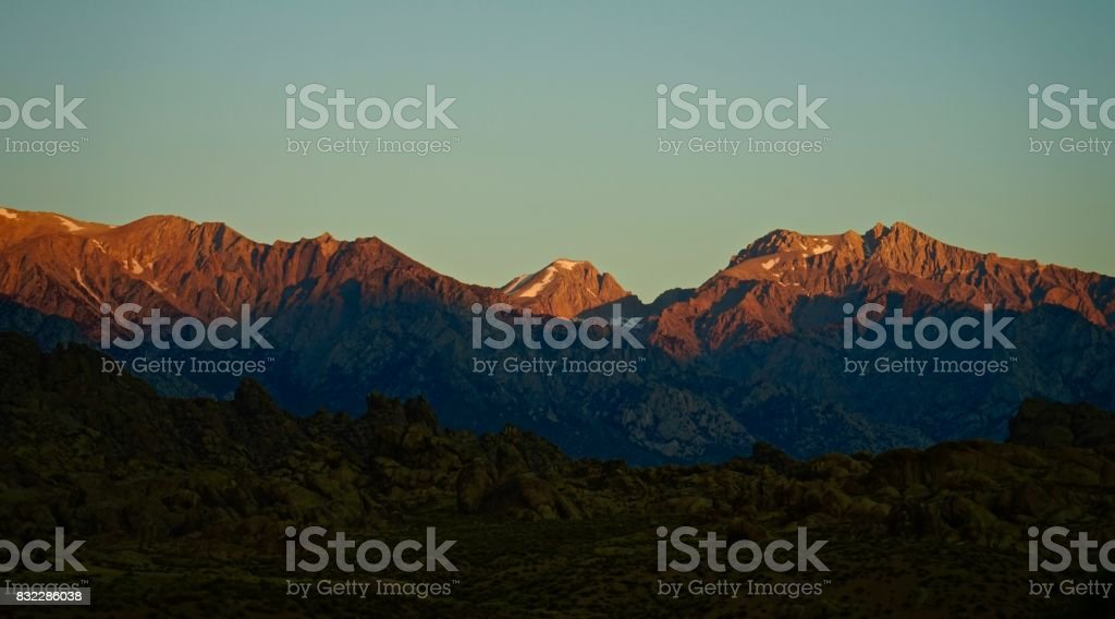 Sequoia National Park Fire stock photo