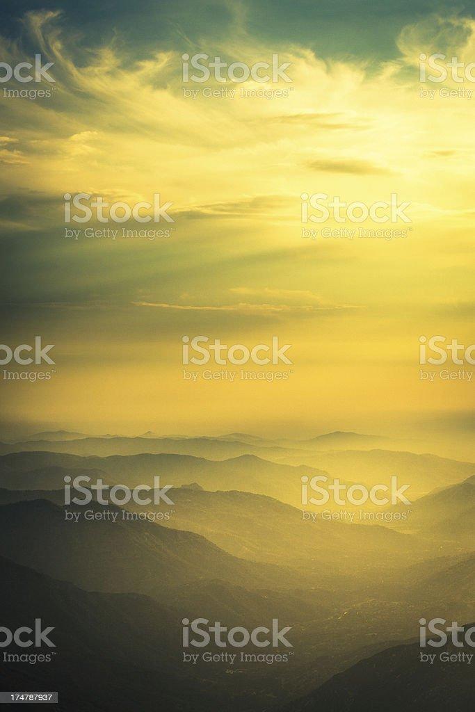 Sequoia national park landscape, California, USA stock photo