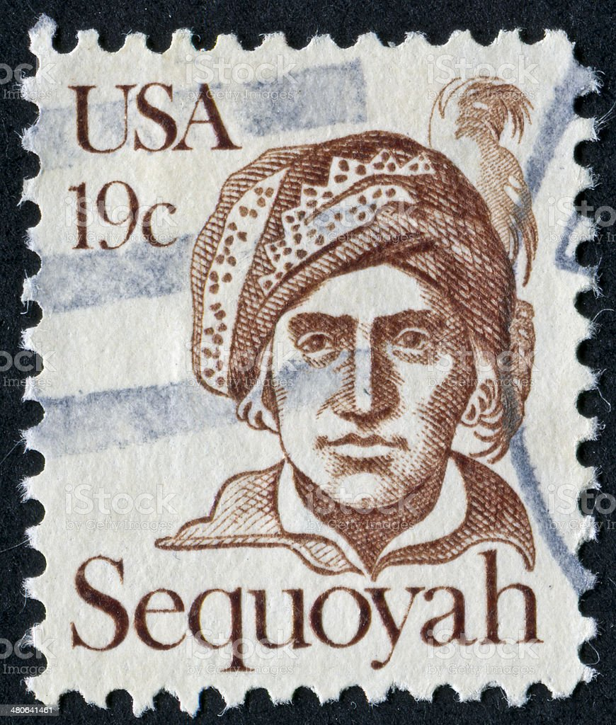 Sequoyah Stamp stock photo