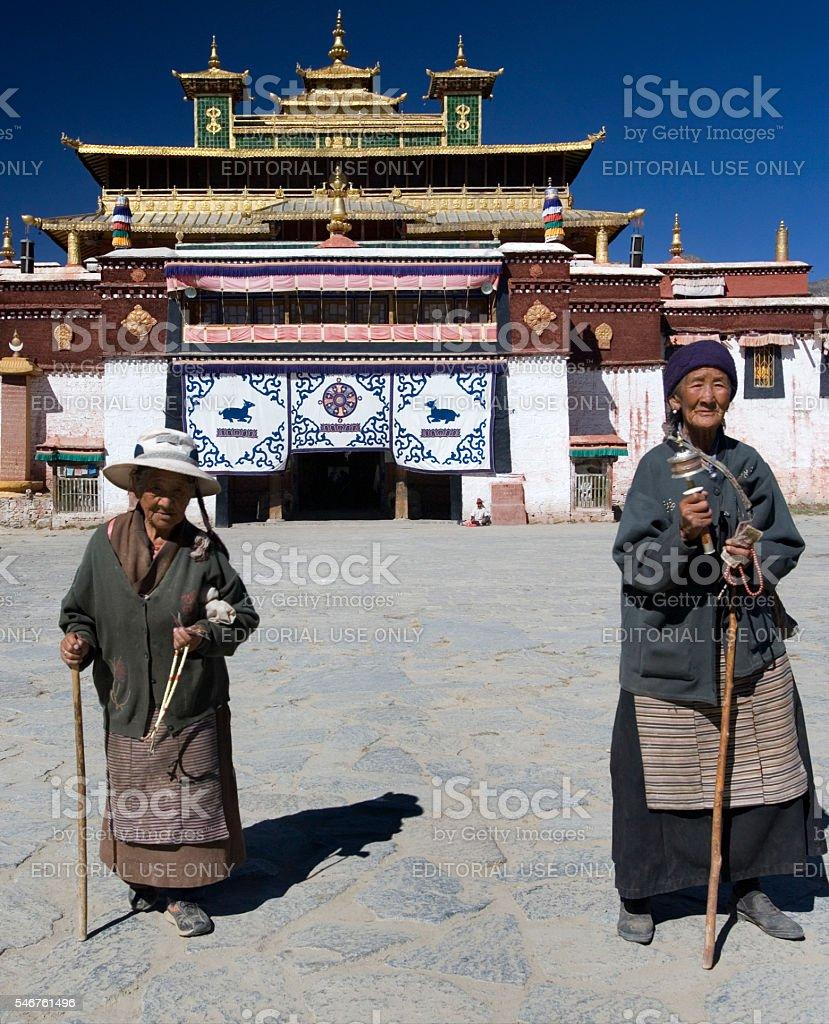 Sera Monastery - Tibet stock photo