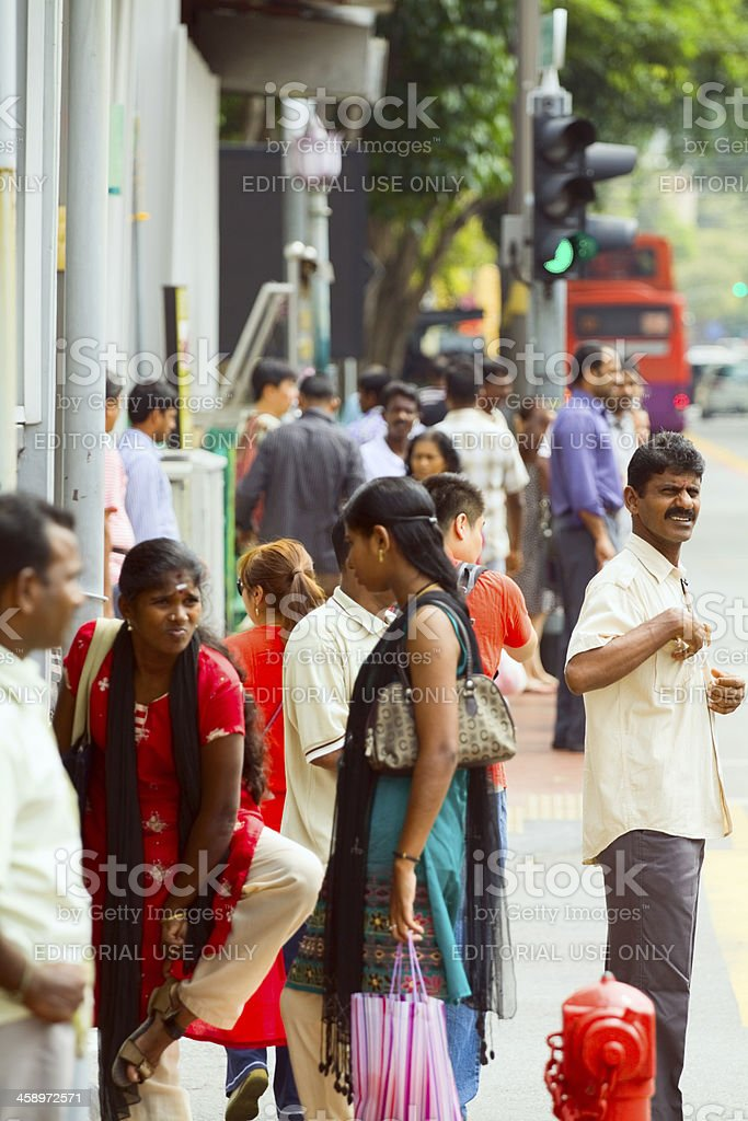 Serangoon Road in Little India stock photo