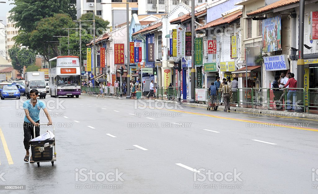 Serangoon Road, Singapore stock photo