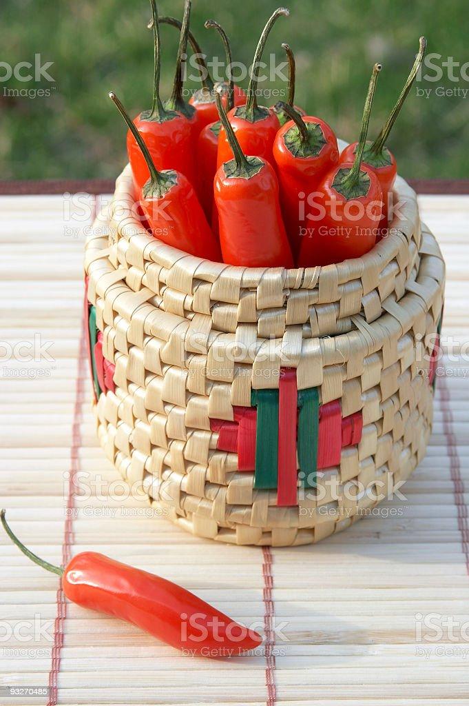 Serano Peppers stock photo