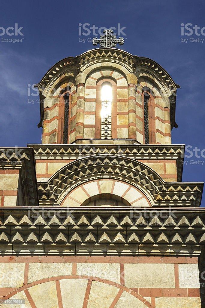 Serbia, Belgrad, saint Mark Church Tower stock photo