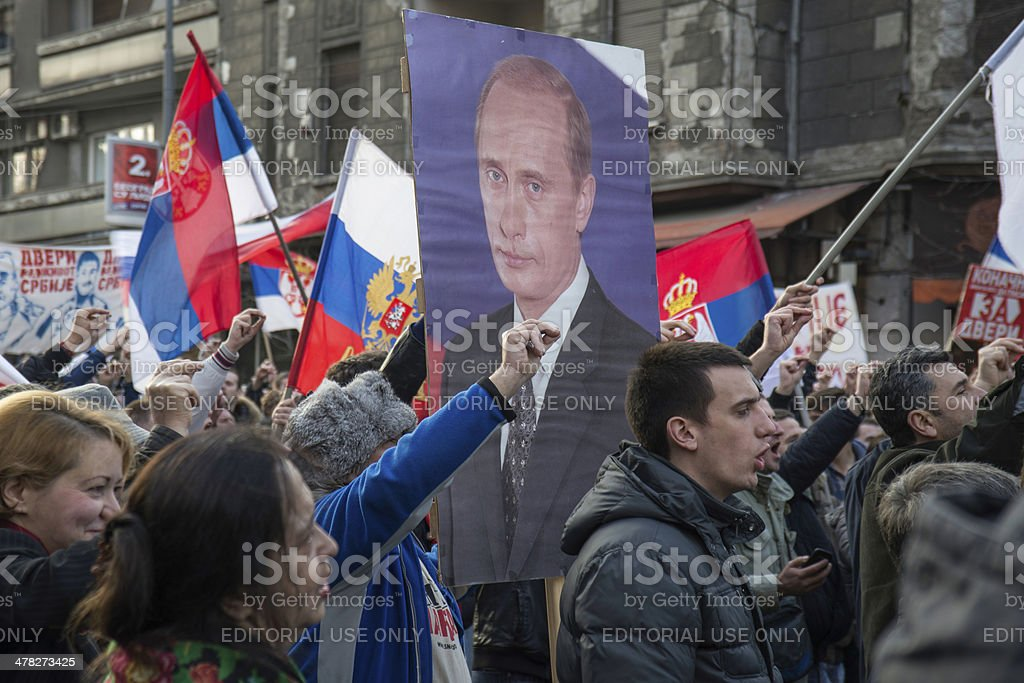 Serbia election 2014 stock photo