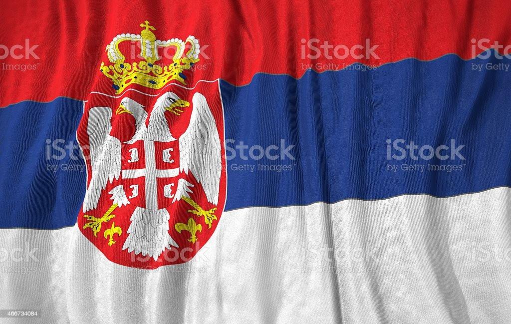 Serbia flag 3d illustration stock photo
