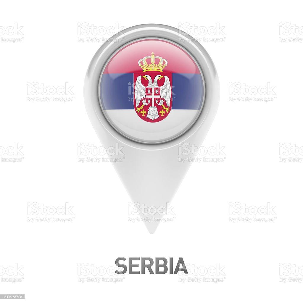 Serbia Flag Icon stock photo