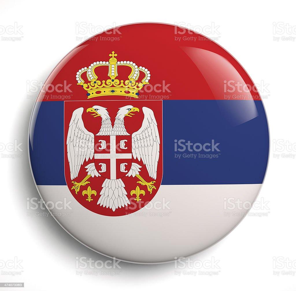 Serbia flag stock photo