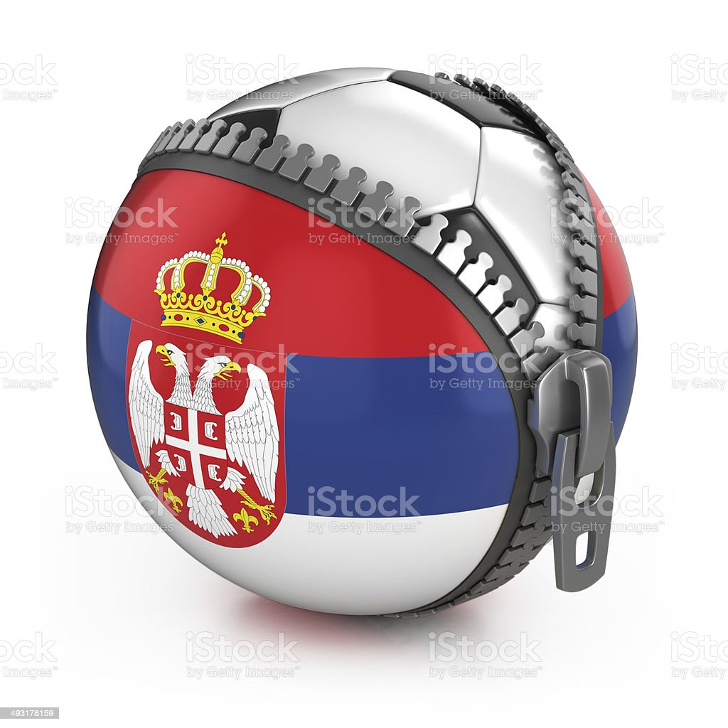 Serbia football nation stock photo