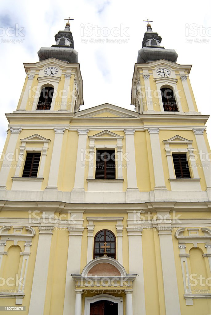 Serbian cathedral in Timisoara royalty-free stock photo