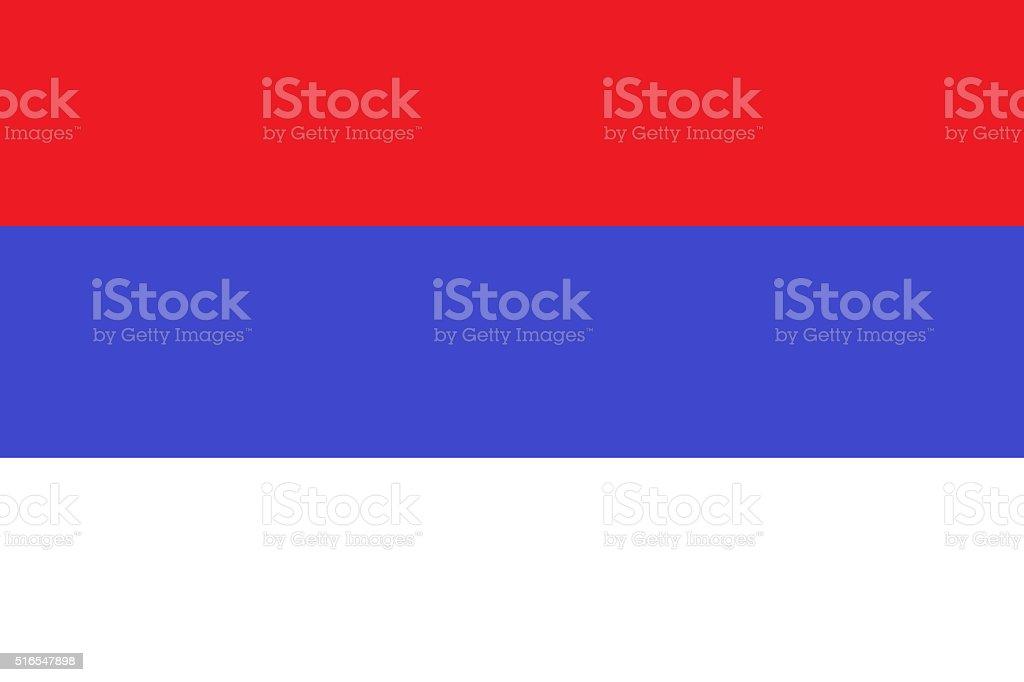 Serbian civil flag stock photo