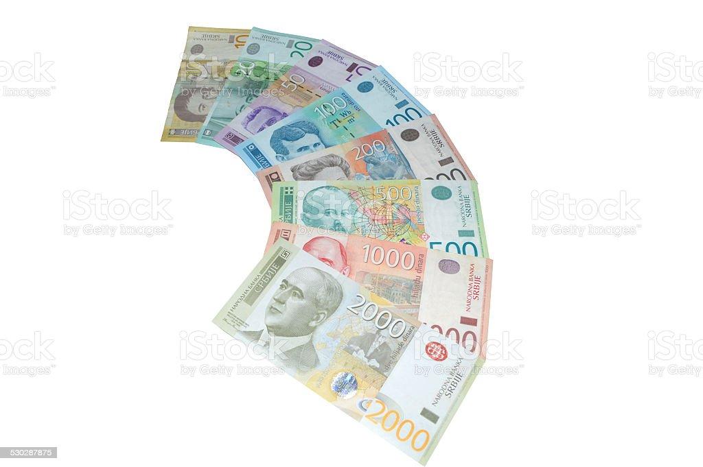 dinar serbio billetes de banco de moneda foto de stock libre de derechos