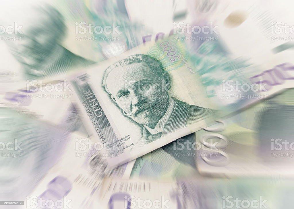 Serbian dinars stock photo