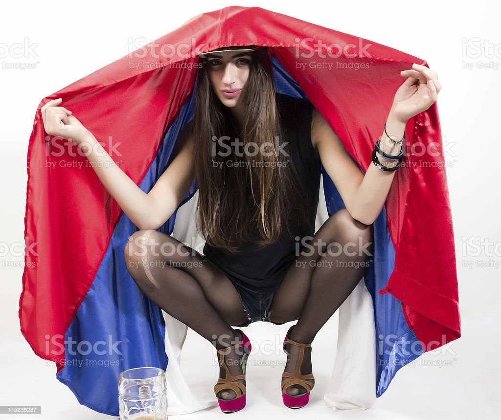 Serbian Flag royalty-free stock photo