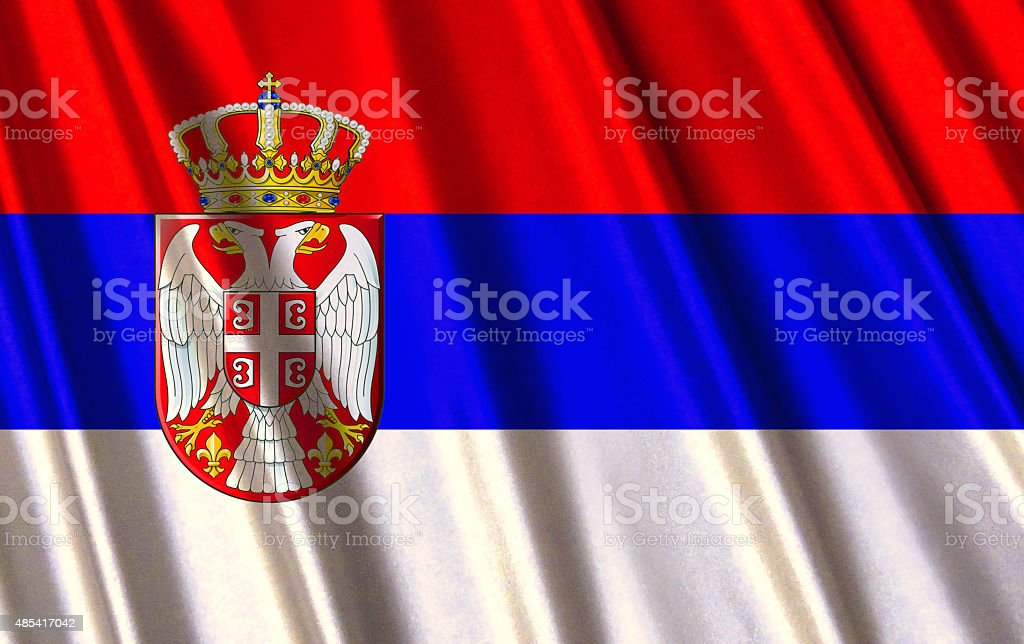 Serbian flag stock photo