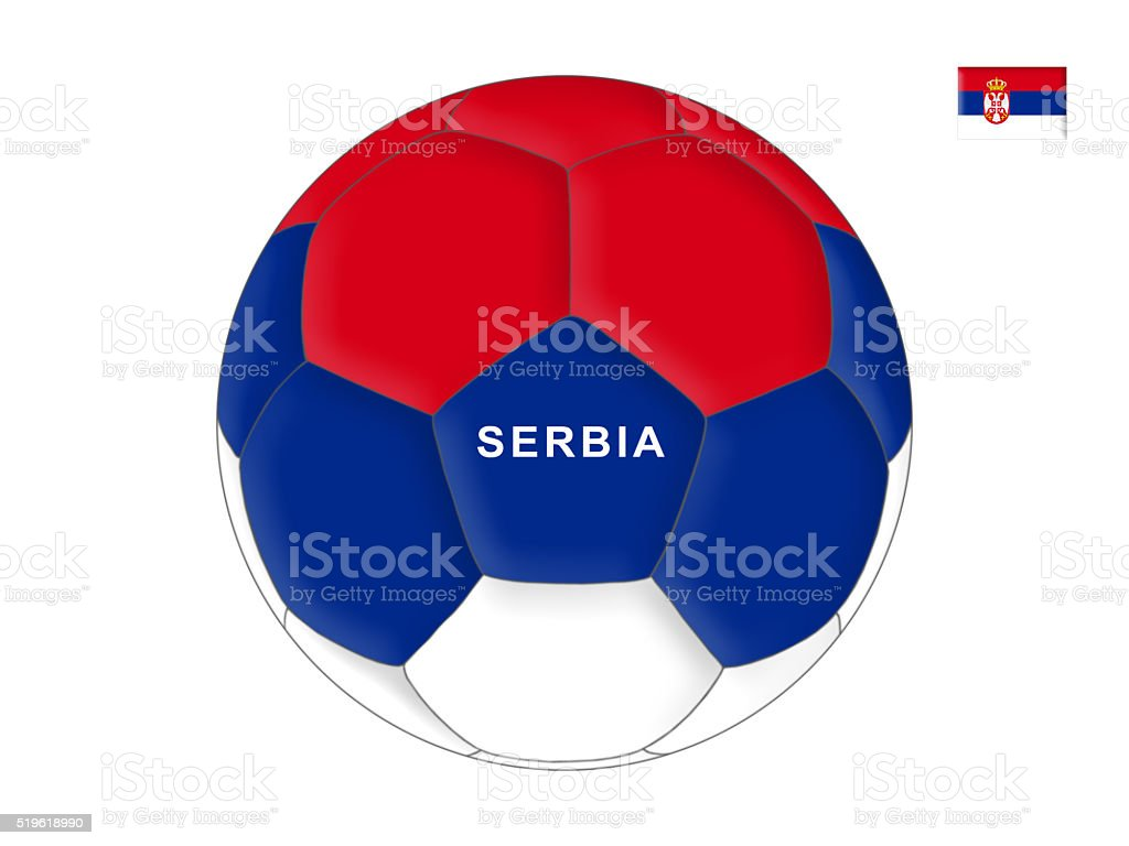 Serbian football stock photo